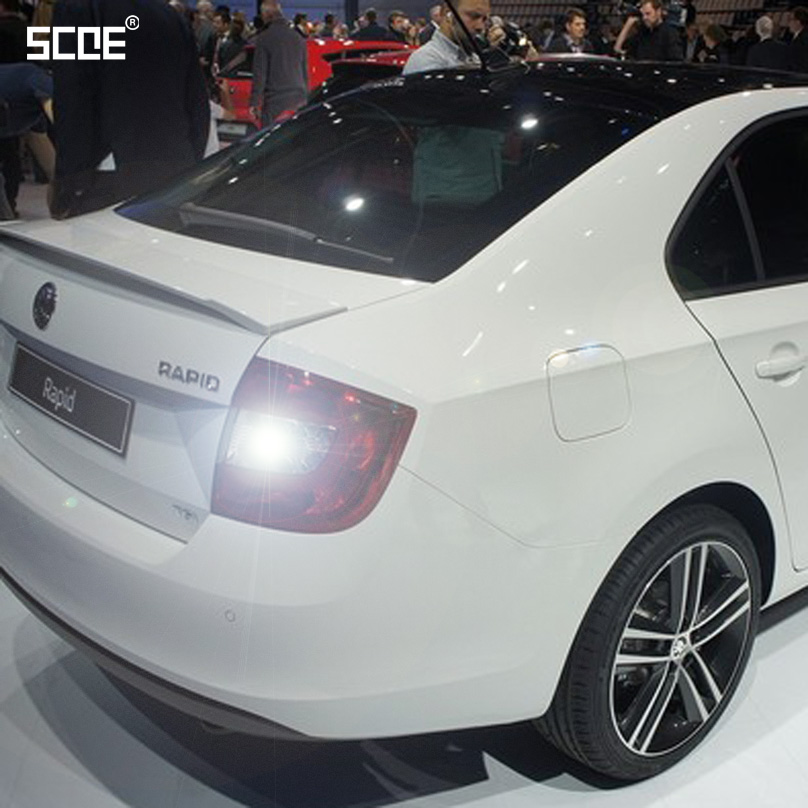 For Skoda Rapid (NH3) Rapid Spaceback (NH1) SCOE 2015 New 2X30SMD Super Bright Back Up Light Reverse Light Car Styling