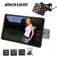 ARKRIGHT 9'' 1 Din 4GB+64GB Android 8.0 PX5 Octa Core Universal Car Radio Stereo Audio Multimedia Player support GPS navi