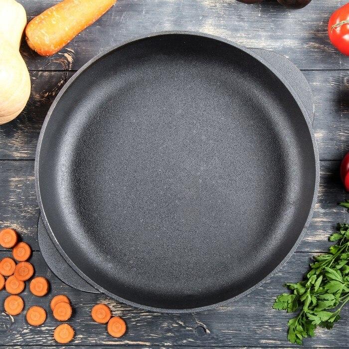 De hierro fundido sartén con 24/26/28*60 cm caucásico grill café bowler sartén pan taza M24/26/2860Y