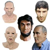 Cosplay Mask Human Face Putin Full Head Latex Mask for Party Mask Messi/ Lincoln