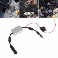 OOTDTY Universal FM Signal Amplifier Car Antenna Radio Booster 88-108Mhz DC 5-12V