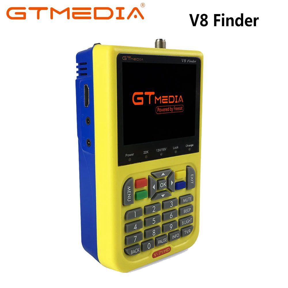 GTMEDIA/Freesat V8 Finder Satellite Finder Digital HD DVB-S2 High Definition Sat Finder DVB S2 Satellite Meter Satfinder 1080P gtmedia freesat v8 finder dvb s2 high definition satellite finder dvb s2 sat finder digital satellite meter 1080p hd satfinder