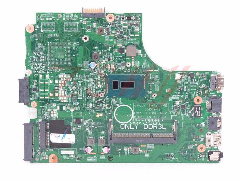 CN-0CW5N0 For DELL 3443 3543 Laptop Motherboard i3 Processor 0CW5N0 DDR3L