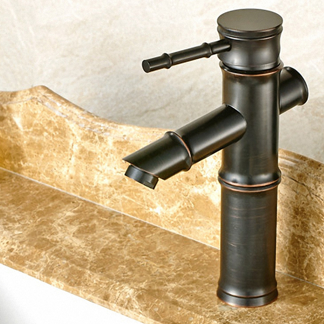 Contemporary Bathroom Faucet, Low/High Arc Faucet, One Handle Lever ...