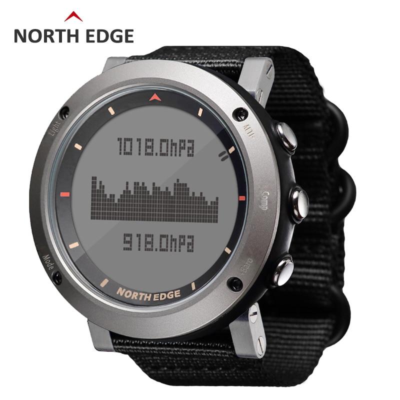 Digital Watch Barometer North-Edge Running Waterproof Sport Compass Swimming Colorful
