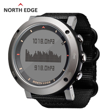 Man sport digital watch Waterproof Colorful sports watches Hours Running Swimming Altimeter Barometer Compass Weather North Edge все цены