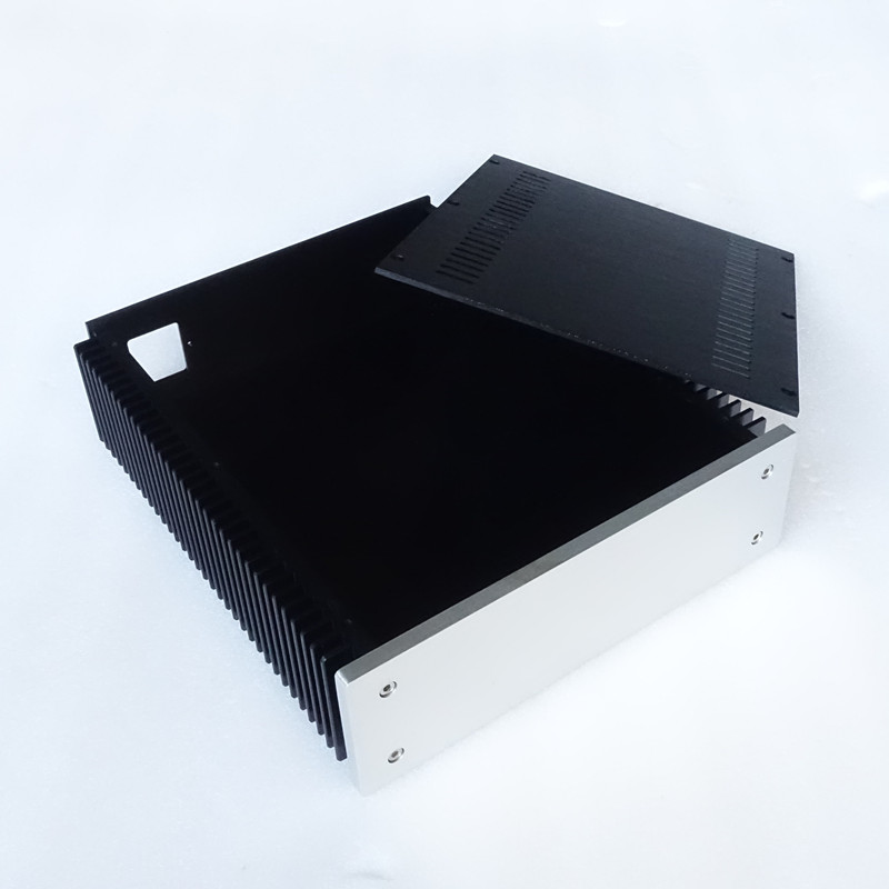 Breeze audio power amplifier aluminum chassis (aluminum enclosure)with both side radiator BZ2307 breeze audio hifi cnc power amplifier aluminum chassis bz3608b