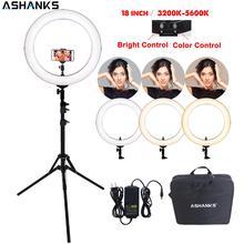 แต่งหน้าความงามโคมไฟขาตั้งกล้องโทรศัพท์อุปกรณ์เสริม RL-18 Selfie LED