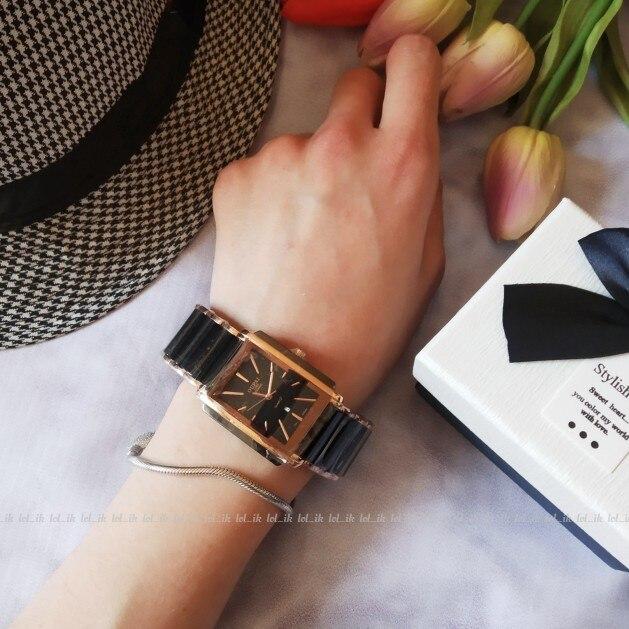 Relógios de quartzo quadrados cerâmica Relógios