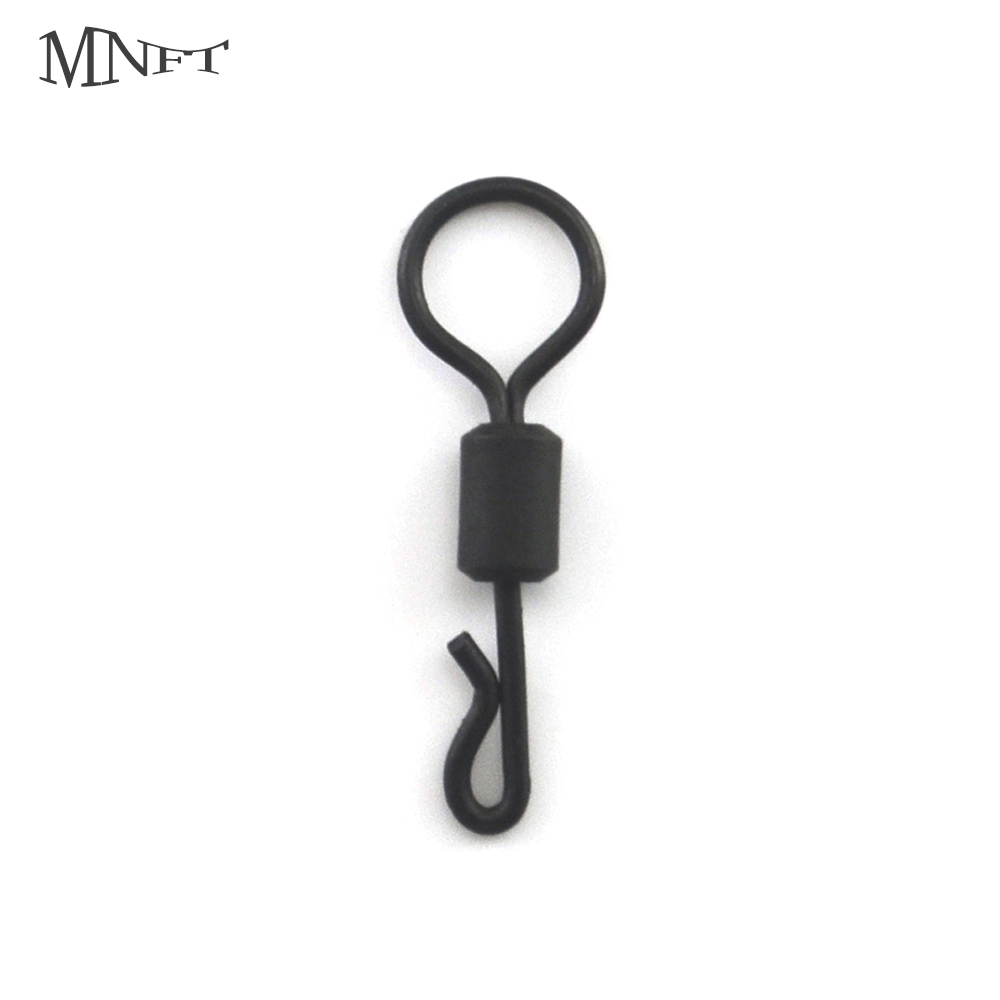 MNFT 30Pcs Big Eye Swivels Chod Matt Black Finish Carp Tackle Quick Links Standard For Carp Hair Rigs