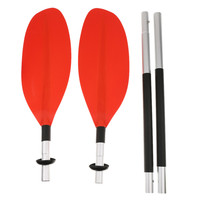 Foldable Kayak Canoe Paddles Practical Portable Durable Lightweight Aluminium Alloy Detachable Paddle For Inflatable Boat Canoe2