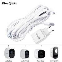 6. Зарядный кабель 56ft/2m для камеры Arlo Pro 2/Arlo Pro/Arlo Go/Arlo, Всепогодный кабель питания с адаптером QC 3,0