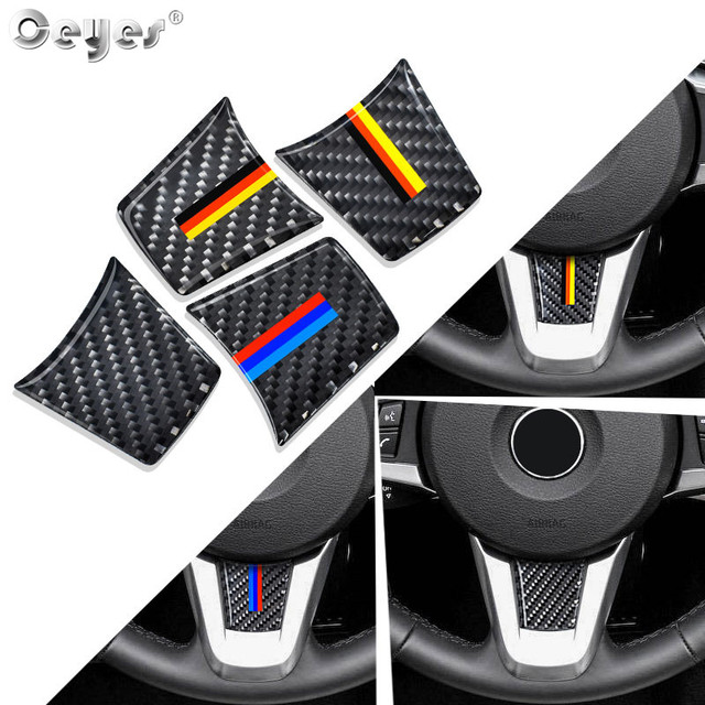 Ceyes Auto Steering Wheel Stickers Accessories Car Styling Case For Bmw M Sport Stripe Z4 E89