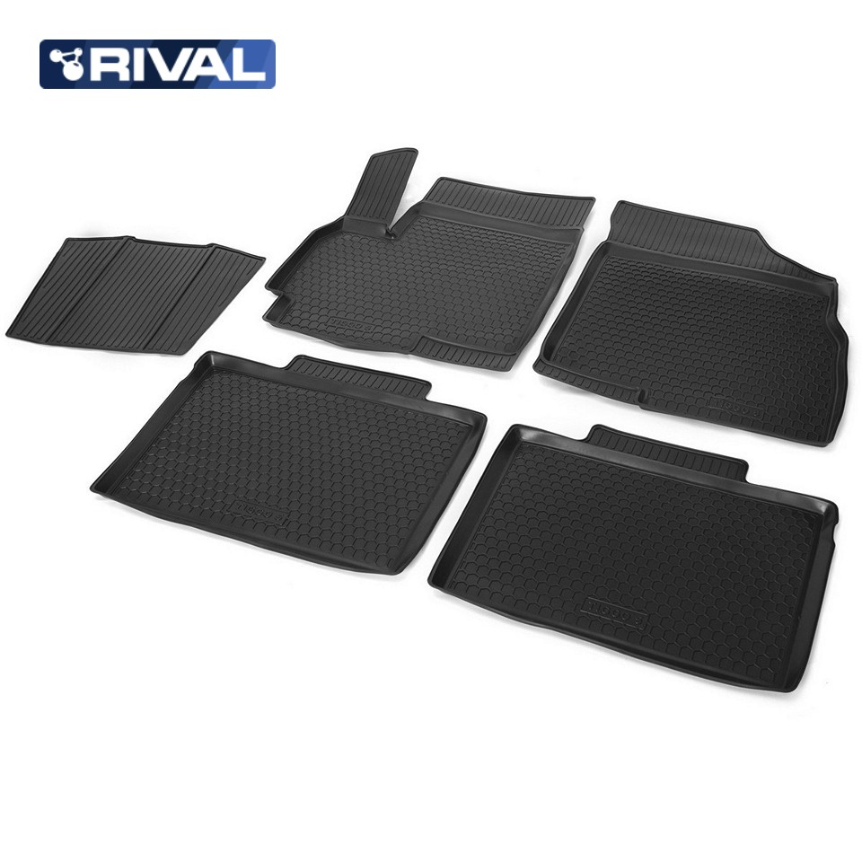 For Chery Tiggo 5 2014-2019 floor mats into saloon 5 pcs/set Rival 10901001 коврики салона rival для chery tiggo 5 5 дв 2014 н в полиуретан 10901001