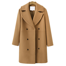 New Autumn Winter Fashion Women Coats Casual Jackets Long Sleeve Blazer Outwear Female Elegant Wool Double Breasted Coat все цены
