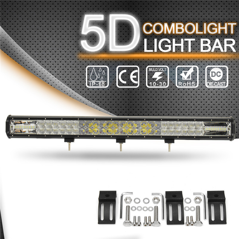 810W 29 Inch 5D LED Work Light Bar Flood Spot Combo Car Offroad Driving Lamp Light Bar Work Light 6000K For SUV ATV Truck Boat hello eovo 5d 32 inch curved led bar led light bar for driving offroad boat car tractor truck 4x4 suv atv with switch wiring kit