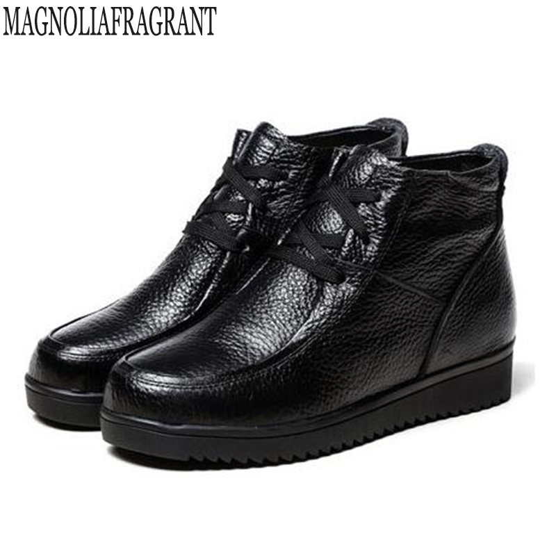 Sencillas Terciopelo El Bota Zapatos Mm117 Corta Nueva Negro 2019 Madre Caliente Botas Planas Cómoda Edad Mujer Zapato Más Lace Mujeres Mediana Up vaaqwTAX