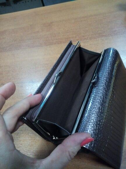держатель кредитной карты ; кожаный бумажник женщин; коричневый клатч;
