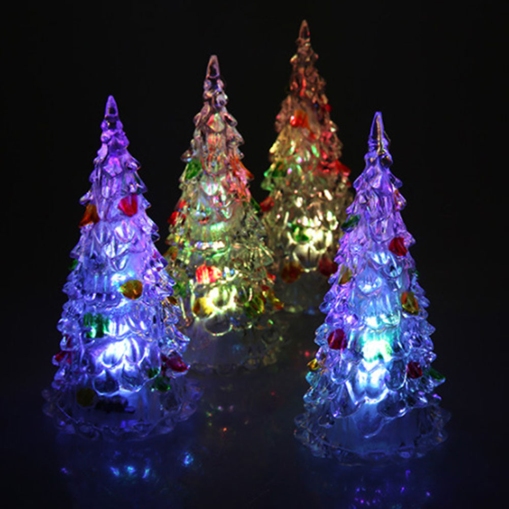 Colorful Dream Crystal Tree Novelty Night Light Led Small Night Lamp Light 7 Colors Changing Acrylic Christmas Tree Light