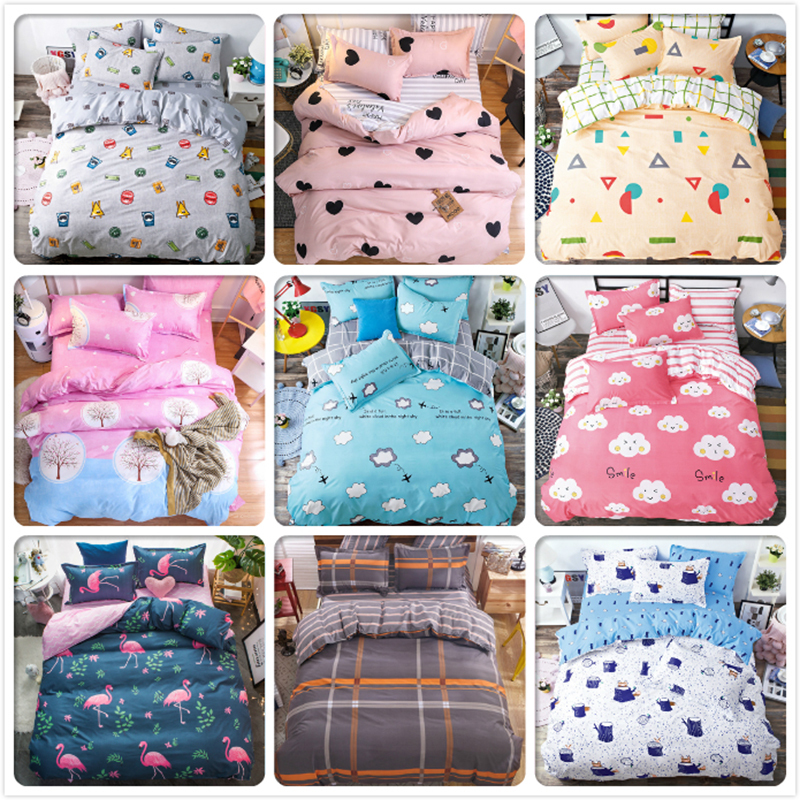 Good Quality 3pcs/4pcs Bedding Set Soft Cotton Bed Linens Kids Child Bedspreads Single Twin Queen King Size Duvet Cover Big Size