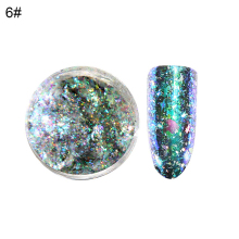 Shinning Glitter DIY Pigment Dust Women Party Nail Art Powder Decor with Brush