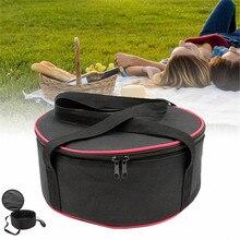 Большая походная миска для кемпинга, набор кастрюль для пикника, барбекю, кухонной утвари, круглая сумка для хранения кастрюль