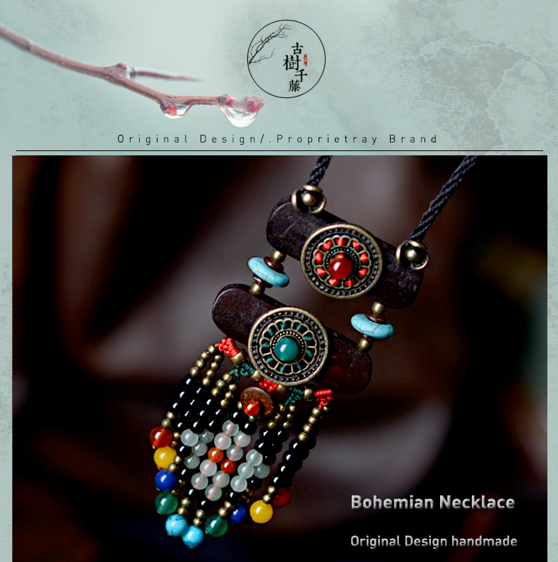 UTB81vL.iTzIXKJkSafVq6yWgXXaU - Boho Necklace Women Ethnic stone maxi long Necklace black bohemian Pendant Necklace vintage rope chain fashion jewelry