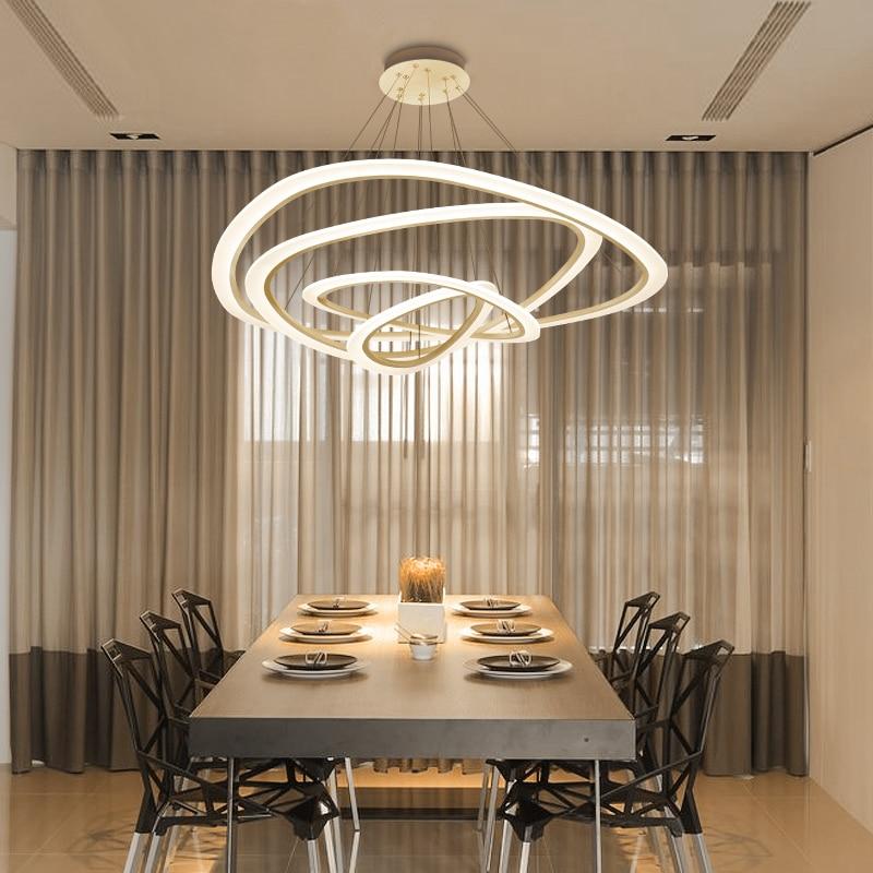 Işıklar ve Aydınlatma'ten Kolye ışıkları'de Modern Led çatı aydınlatma İskandinav süspansiyon armatür kolye işıkları oturma odası yemek odası için asılı kolye lamba