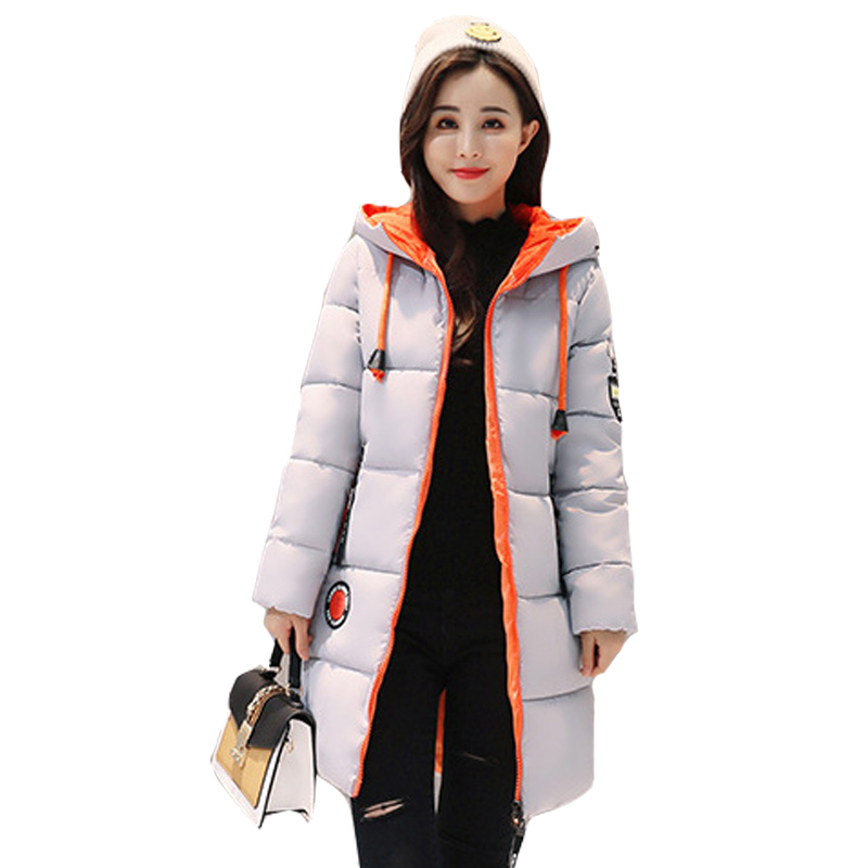 Winter Coat Women Slim Outwear Medium Long Wadded Jacket Thick Hooded Cotton Fleece Warm Cotton Parkas