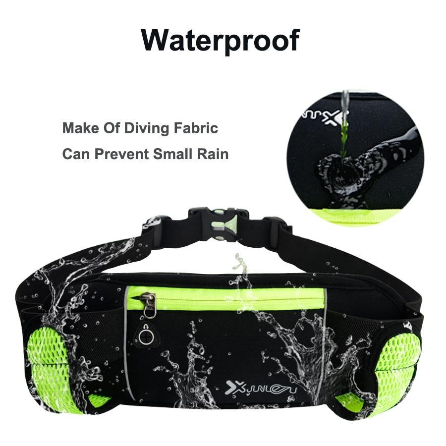 Running Bags Waist 2 Water Bottle Outdoor Camping Hiking Fitness Man Women Gym Lightweight Belt Bag Female Sports Fanny Packs