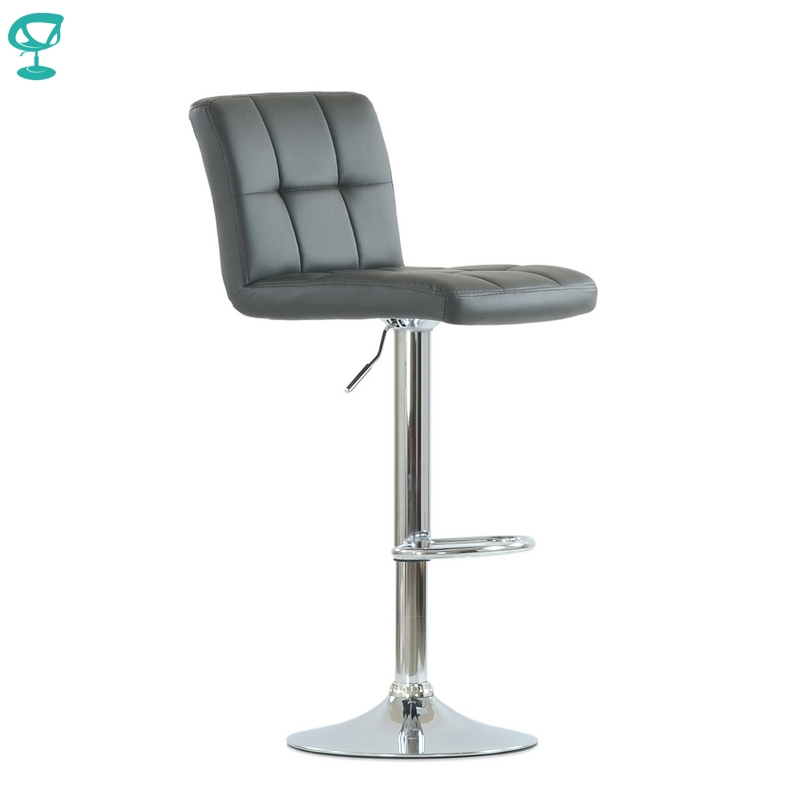 N47CrPuGrey Barneo N-47 PU Leather Kitchen Breakfast Bar Stool Swivel Bar Chair Grey Color Free Shipping In Russia