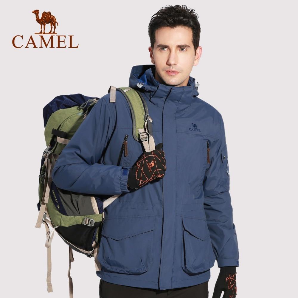 CAMEL Men Women 3 In 1 Outdoor Hiking Jacket Fleece Inner Warm Waterproof Coat Camping Trekking Skiing Jacket