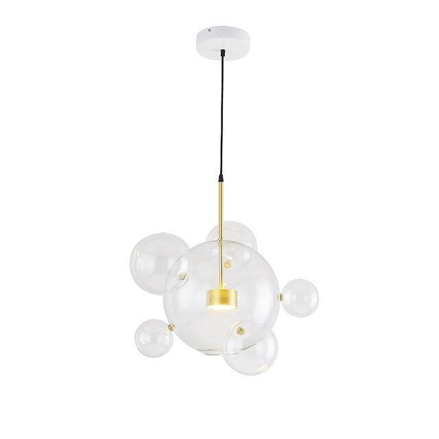 Modern Lovely Creative LED 110-240v Glass Mickey Bubble Ball Pendant Lamp Lights for Dining Room Bar Kids' Room Drop Light