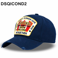 DSQICOND2 مابل ليف القطن قبعات البيسبول dsq خطابات جودة عالية قبعة الرجال النساء العرف تصميم شعار بيريت بونيه أوم أبي قبعة