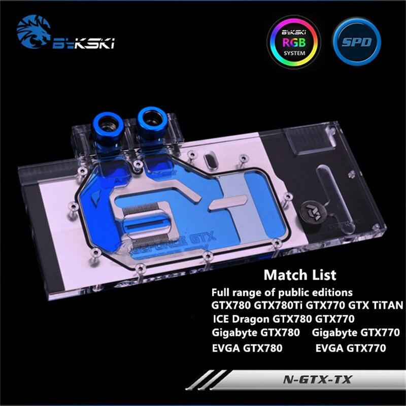 Bykski Copertura Completa GPU Water Block Per TITAN GTX780 GTX770 GTX780TI Scheda grafica N-GTX-TXBykski Copertura Completa GPU Water Block Per TITAN GTX780 GTX770 GTX780TI Scheda grafica N-GTX-TX