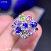 KJJEAXCMY boutique jewelry 925 sterling silver inlaid natural sapphire gemstone female luxury ring support detection kjjeaxcmy boutique jewelry 925 sterling silver inlaid natural garnet gemstone female ring new support detection
