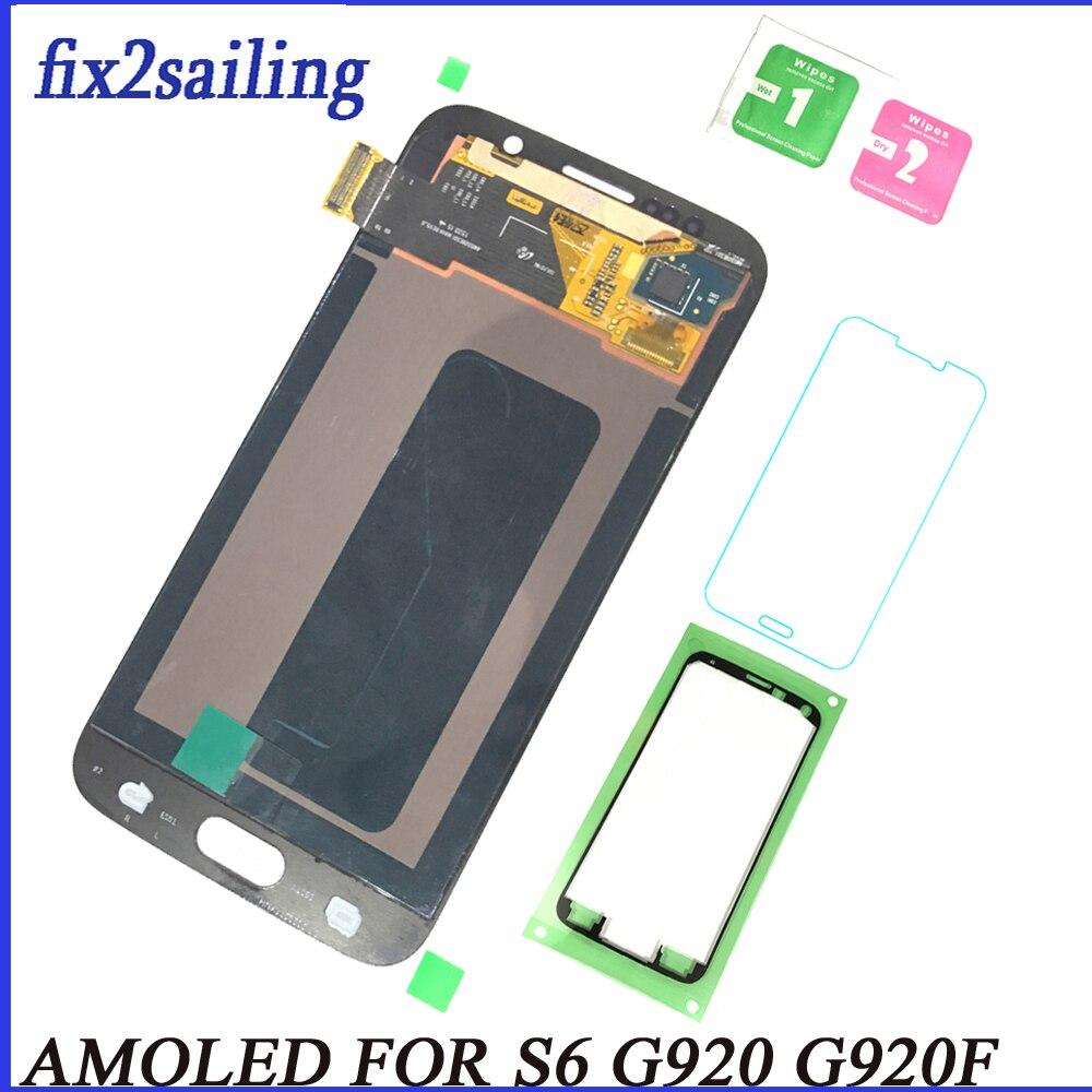 LCD Pour Samsung Galaxy S6 Affichage Super Écran Tactile G920 G920F pantalla remplacement 100% Testé Travail digitizer