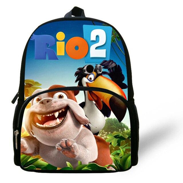 00882883030b32 12-cal Mochila Escolar Menino Mini torby dla dzieci chłopcy Rio torba  kartonowa Blu druku