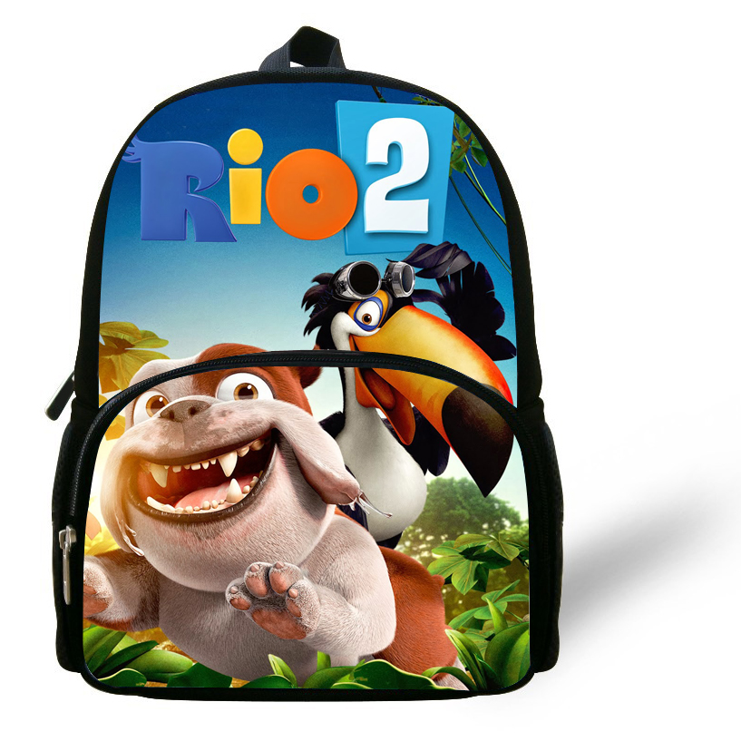 12-inch Mochila Escolar Menino Mini Kids Bags Boys Rio Cartoon Bag Blu Print Age1-6 Daily Backpack Children School Bags Girls
