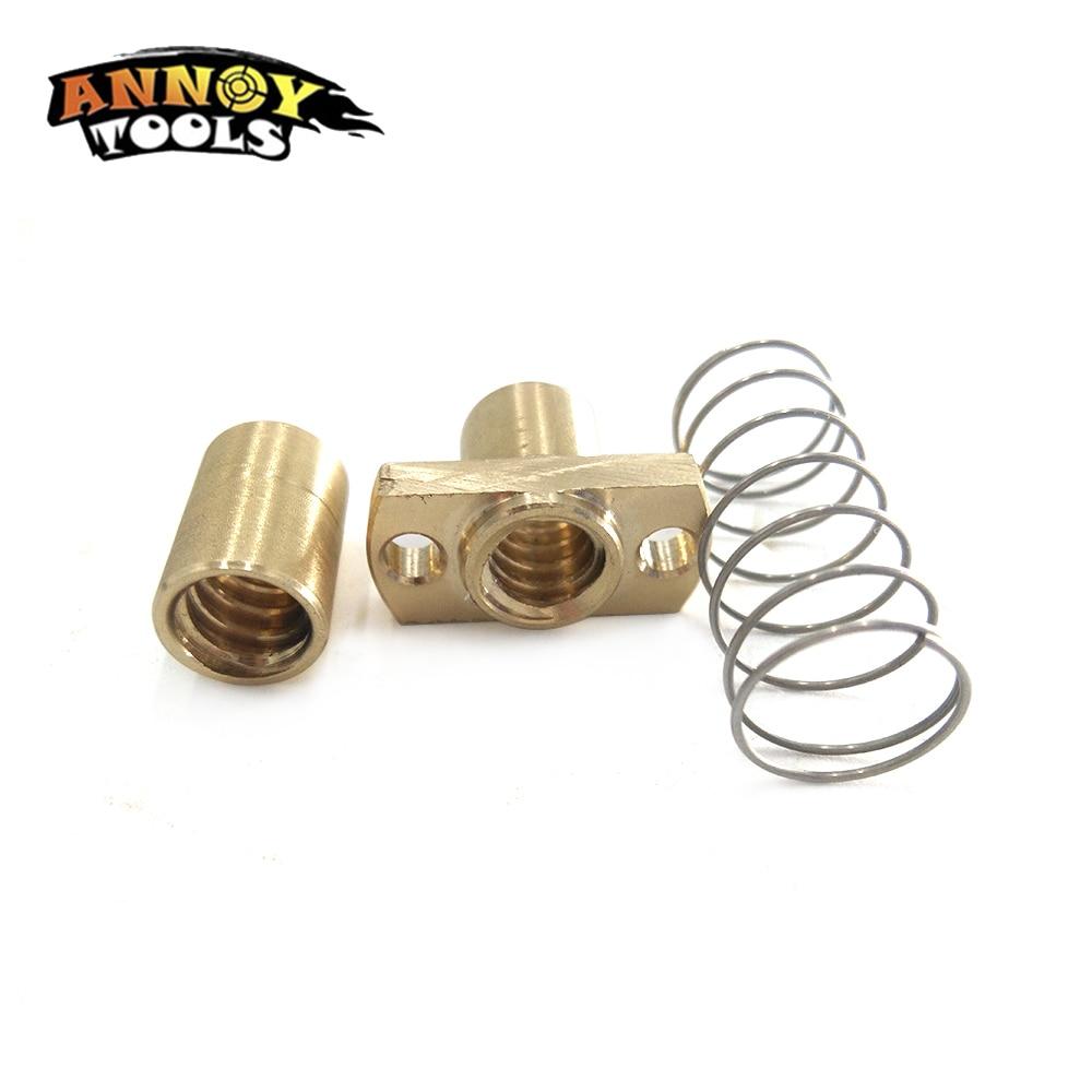 DIY CNC 3018 Exclusive 3D Printer Parts T8 Anti Backlash Spring Loaded Nut Elimination Gap Nut For 10mm