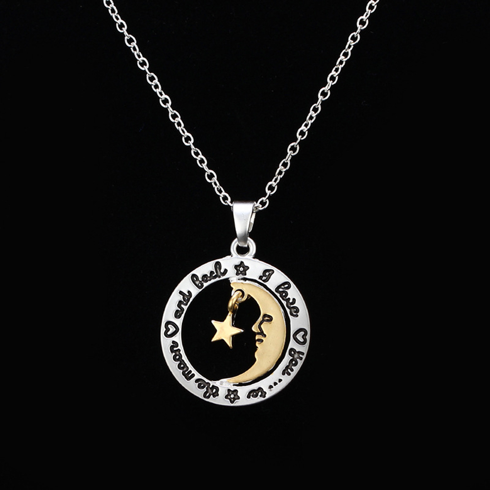 2017 Silver color I Love You to The Moon and Back Necklace ...