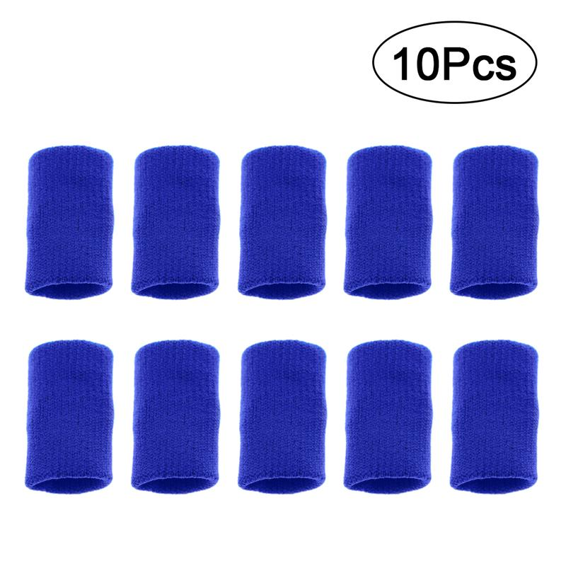 10 Pcs Volleyball Finger Protector Finger Guard Stretchy Thumb Sweatband Sleeve Arthritis Support Sports Aid