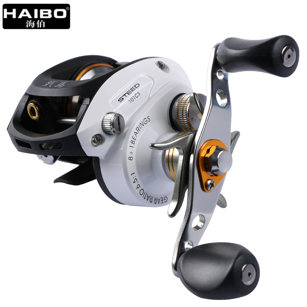 Haibo STEED Baitcasting Reel 8+1 BB Fishing Reel Left/right Hand White Metal Centrifugal Brake Bait Casting Lure Fishing Wheel 18bb 1 ball water drop wheel bearings double brake baitcasting reel fishing gear right left hand bait casting fishing wheel