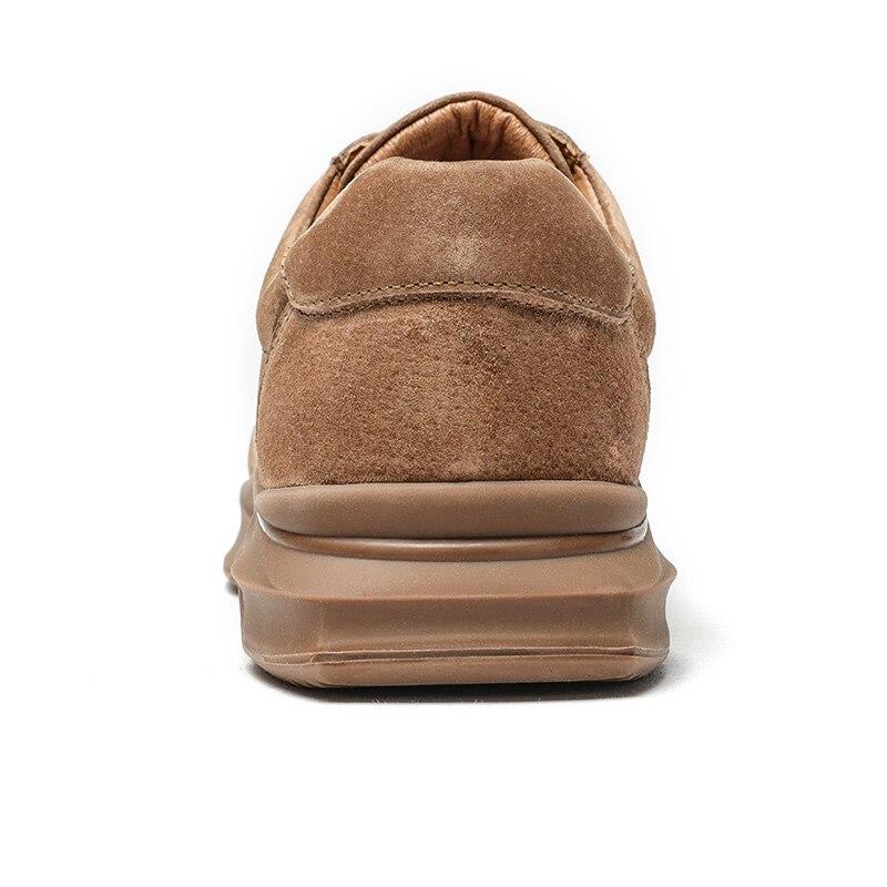 CHAMEAU Printemps D'été Texturé En Cuir Hommes Chaussures à lacets Homme En Plein Air chaussures décontractées Épais Fond de Point De Non-slip Marée chaussures hommes - 4