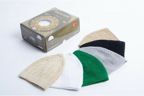 Turkish Islamic Men's Knit Cotton Kufi Takke Skull Cap Prayer Eid Gift