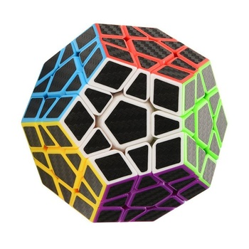 Zcube megamins Magic Cube Haip Carbon Fiber Sticker Speed Cube Puzzle Cube Stress cube Tri spinner Brain Teaser image