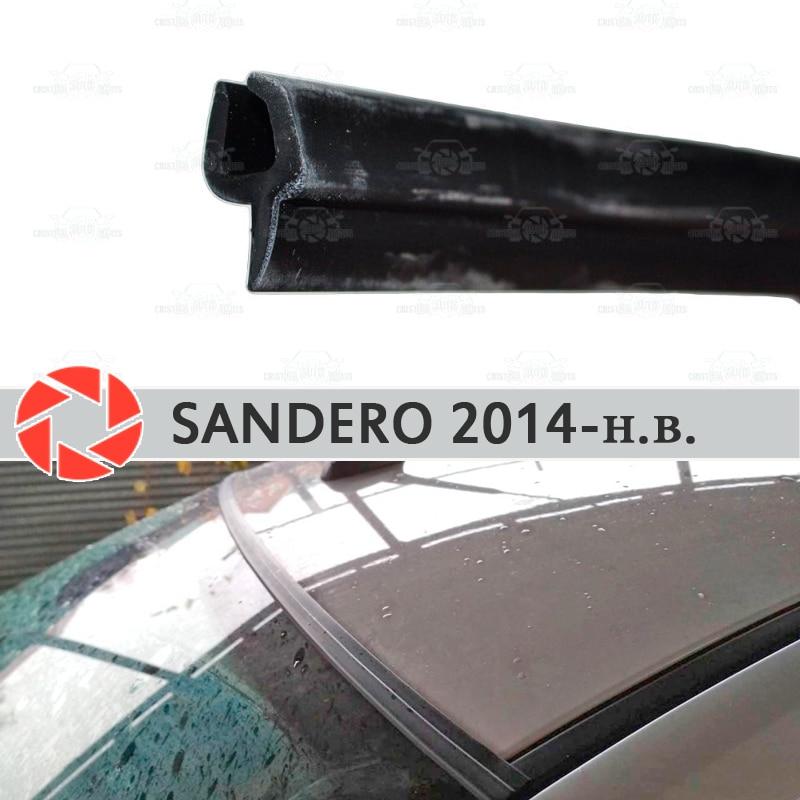 Brisa defletores para Renault Sandero 2014-2019 windshield vedação proteção aerodinâmica chuva cobertura estilo do carro pad