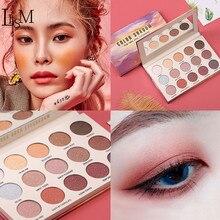 LISM 15 colors eyeshadow pallete Glitter waterproof Long-Lasting Eye Makeup Eyeshadow  Glazed Pigment powder eye shadow Cosmetic