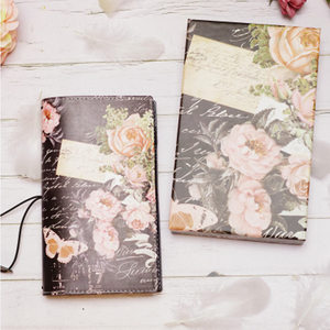 Image 5 - 2019 Yiwi Retro Travel Bind Planner czarny biały kwiat róży kreatywny notatnik podróżny 22x13cm