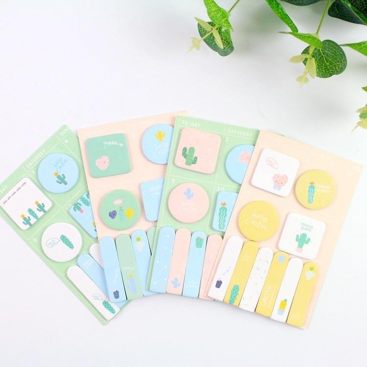 20 sets/1 lot Creative Fruity cactus Memo Pad Sticky Notes Escolar Papelaria School Supply Bookmark Post it Label